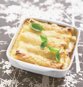 Cannelloni fylld med kycklingrra