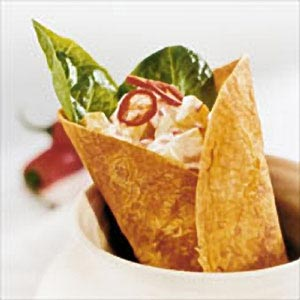 Wrap med kalkon och chiliyoghurt