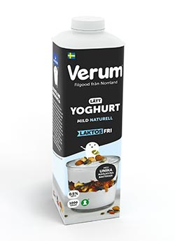 Verum Hlsoyoghurt 0,5% Laktosfri Mild Naturell