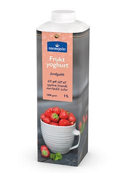 Fruktyoghurt 1% Jordgubb