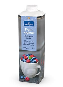 Fruktyoghurt 1% Blbr-Hallon