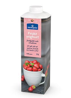 Fruktyoghurt 1% Jordgubb-Smultron