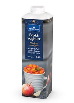 Fruktyoghurt 2,5% Hjortron-pple