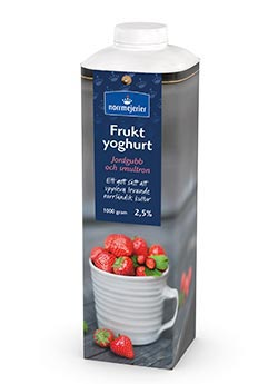 Fruktyoghurt 2,5% Jordgubb-Smultron