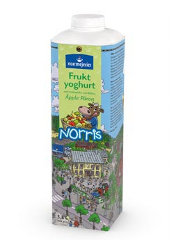 Norris Fruktyoghurt 3,8% pple-Pron